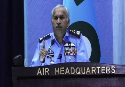 PAF Chief Air Marshal Mujahid Anwar Khan gives a stern warning to India