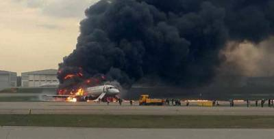 (VIDEO): Passenger plane catches fire, makes crash landing at Airport