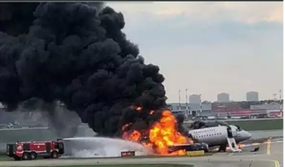 Russian passenger plane pilot reveals strange reason for fire on Aircraft