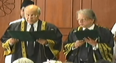 Justice Gulzar Ahmad takes oath as Acting Chief Justice of Pakistan
