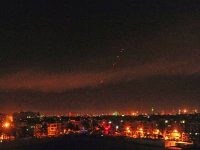 Syrian Air Defence destroy incoming Israeli missiles