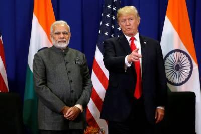 President Donald Trump reacts over Indian PM Modi landslide victory
