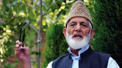 Gilani denounces use of military by India to suppress voice of Kashmiri people