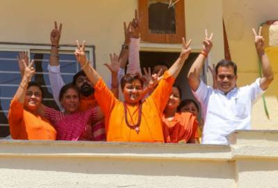 Hindu terrorist elected for the Indian Parliament from BJP platform