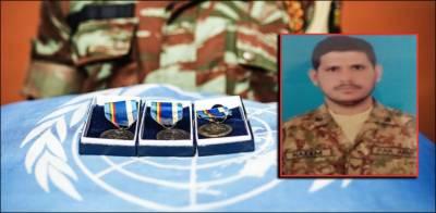 Pakistani soldier awarded prestigious UN medal posthumously