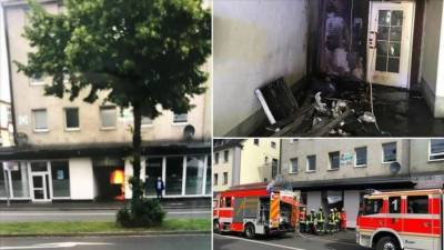 Mosque set on fire in Germany in an arson attack