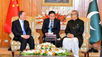 President, Chinese Vice President discuss bilateral relations