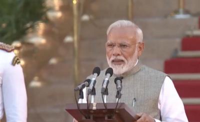 Indian PM Modi sworn in with 50 members cabinet, Sushma Swaraj sacked
