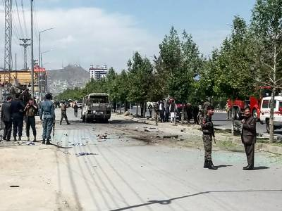 At least four killed as government bus hit in Kabul blast