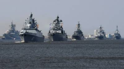 Russian American Navies warships face off in East China Sea
