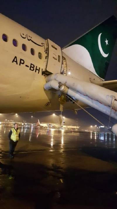 Female passenger on board PIA flight opens emergency door mistaken for toilet door