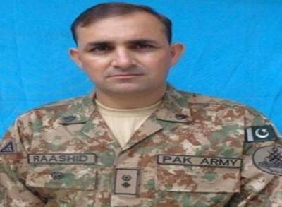 Martyred Colonel Raashid Karim Baig laid to rest with full military honours