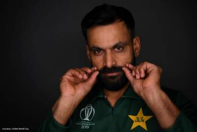 Pakistan's veteran Mohammad Hafeez moustache gain international fame at ICC World Cup