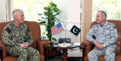 US Navy Commander held important meeting with Pakistan Navy Chief