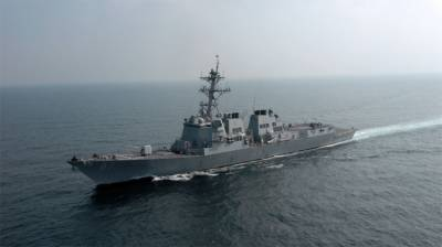 Naval Ship of United States Mason visits Karachi port