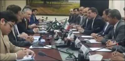 High level Iranian delegation makes a proposal to Pakistan