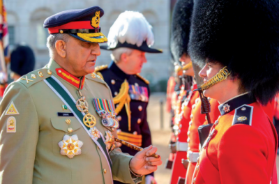Army Chief General Bajwa arrives in London on official visit