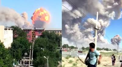 Massive explosion in Military depot in Kazakhstan, emergency declared
