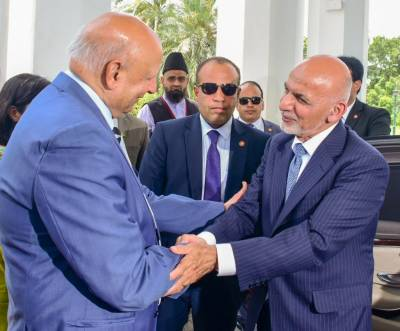 Afghan President Ashraf Ghani hints at a booster