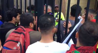 Afghanistan fans clash with Pakistani fans and security officials in World Cup match