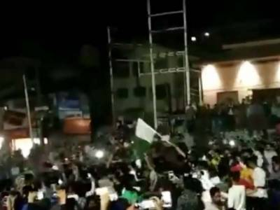 Huge celebrations erupt in Occupied Kashmir after India's defeat in ICC World Cup Semifinals