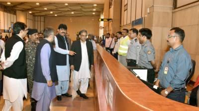Federal Ombudsman visits one window facilitation desk at Jinnah Int'l Airport