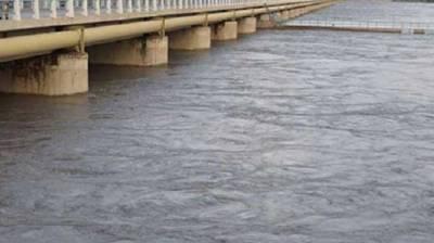 River Kabul at Warsak, Nowshera in medium flood