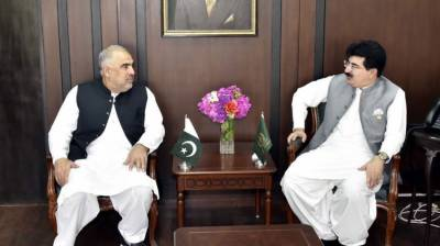 Chairman Senate, NA Speaker express resolve to strengthen ties b/w two houses