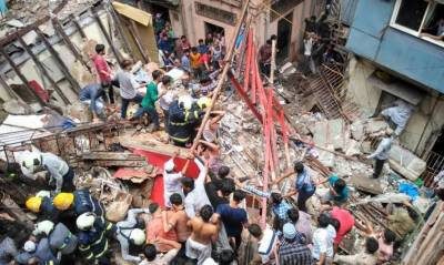 Four killed as building collapses in India