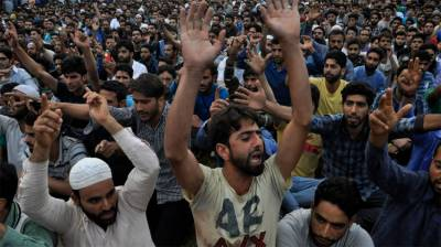 People stage protest against killing of woman, girl in Rajouri