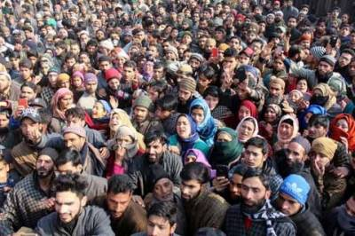 Thousand of people attended martyr's funeral in Baramulla, occupied Kashmir