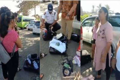 In a big development, Group of Indian tourists caught stealing almost everything from Indonesian hotel