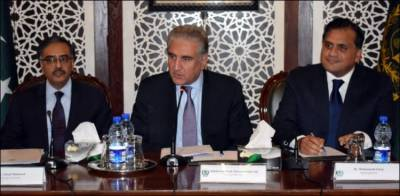 In a successful venture FM Shah Mehmood Qureshi seeks diplomatic Corps support against India