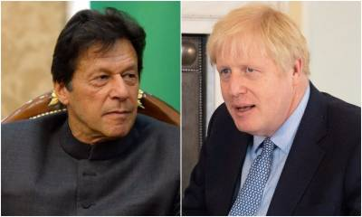 PM Imran, British counterpart Boris Johnson discuss serious situation in Occupied Kashmir