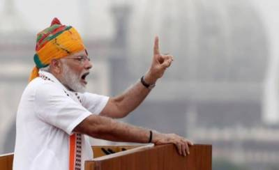 Indian PM Modi launched veiled attack against Pakistan in Independence Day speech