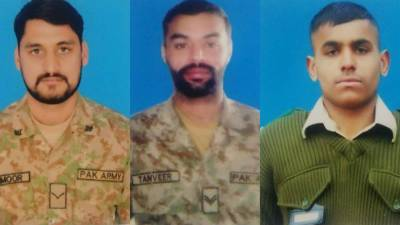 Three Pakistan Army soldiers martyred at LoC by unprovoked Indian fire