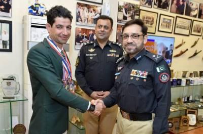 Pakistani Police Commando Khan Saeed Afridi wins medal at World Games