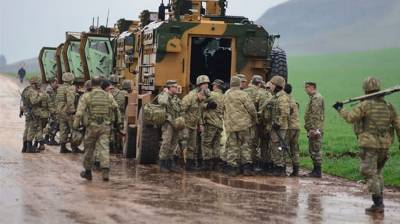 Turkish Military convoy comes under airstrike
