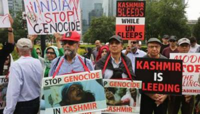 Unprecedented massive protests held over Occupied Kashmir crisis against India in Canada