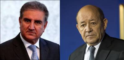 Pakistani FM Shah Mehmood Qureshi held important telephonic contact with his French counterpart