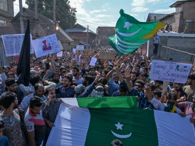 To avoid huge embarassment Indian authorities tightened curfew in IOK to stop Kashmiris March outside UN Office