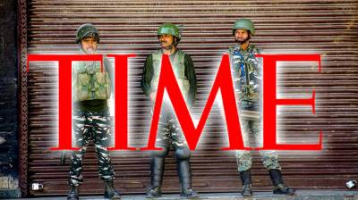 Leading international magazine 'Time' mocks Indian government claims over Occupied Kashmir