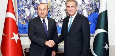 Pakistan FM seeks his Turkish counterpart support over Occupied Kashmir