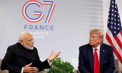 US President Donald Trump and Indian PM Modi discuss Occupied Kashmir crisis
