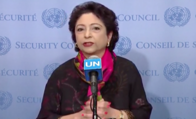 Pakistan Ambassador Maleeha Lodhi makes an appeal to international community over Occupied Kashmir crisis
