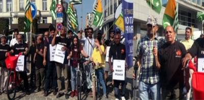 Bicycle Rally held in Brussels in solidarity with Kashmiris
