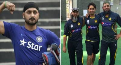 Indian veteran off-spinner Harbhajan Singh failed to mock Pakistani spinners