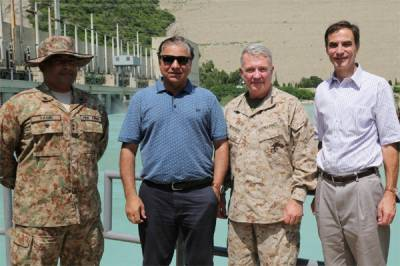 US Centcom commander, Ambassador visit Tarbela Dam Project