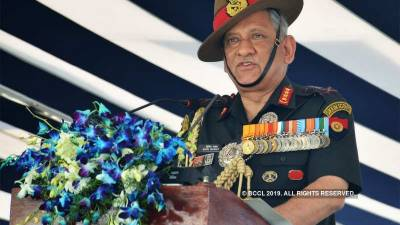 Indian Army Chief threatens Pakistan with a strike