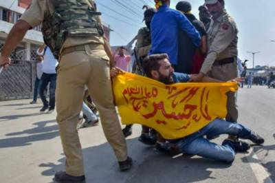Indian Military plays havoc upon Muharram procession in Occupied Kashmir with firing and arrests of hundreds